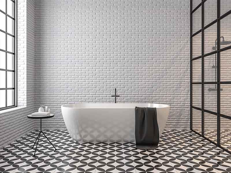 black and white floor tiles torquay