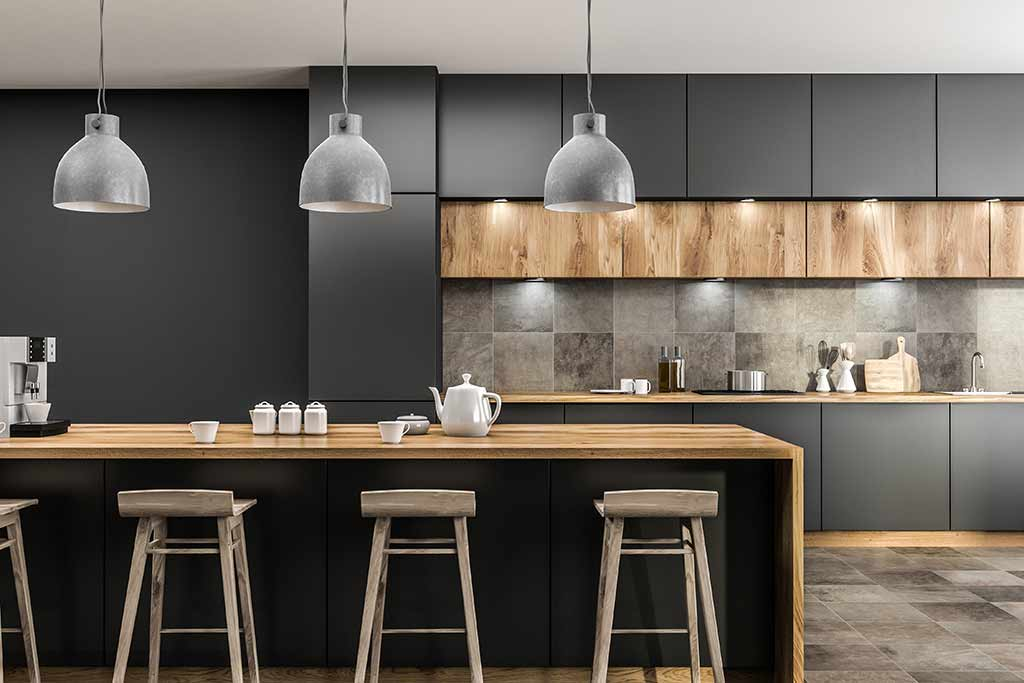 modern kitchen bar lighting